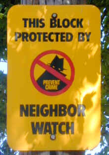 Neighborhood watches WORK!